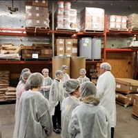 Gaylord Middle School Students Tour Albie's Foods