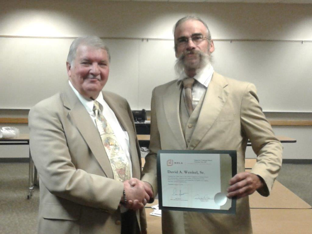 David Wenkel Accepts Certification