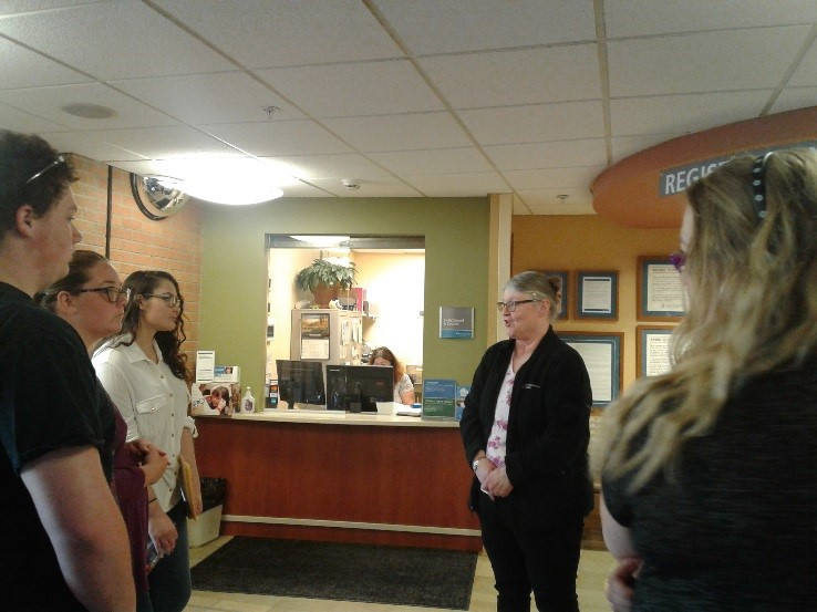 Munson Hospital HR Manager welcomes students.