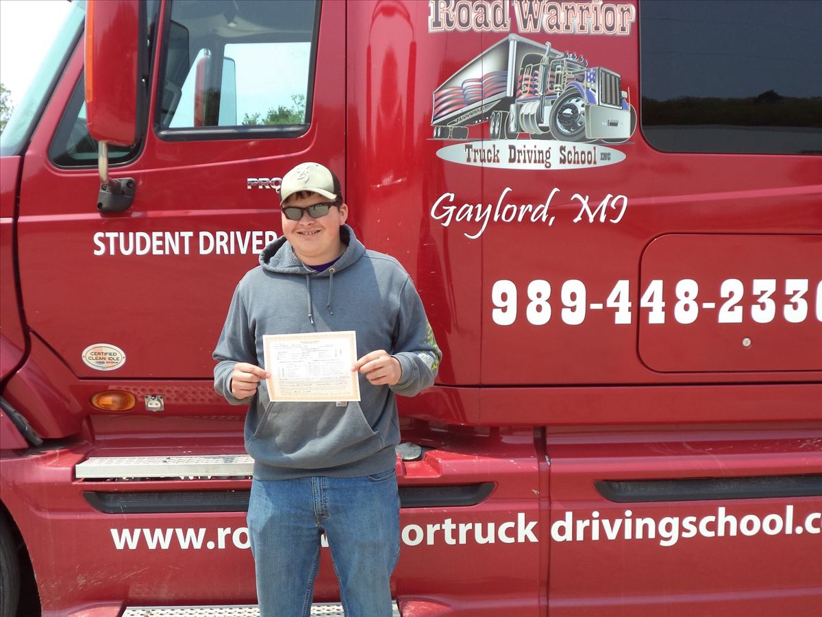 Jared gets CDL License
