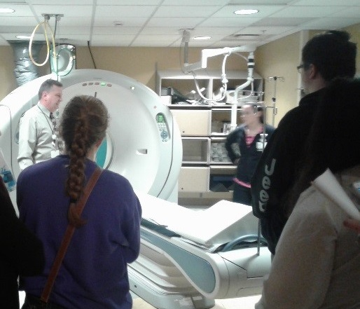 Students learn about CAT Scans