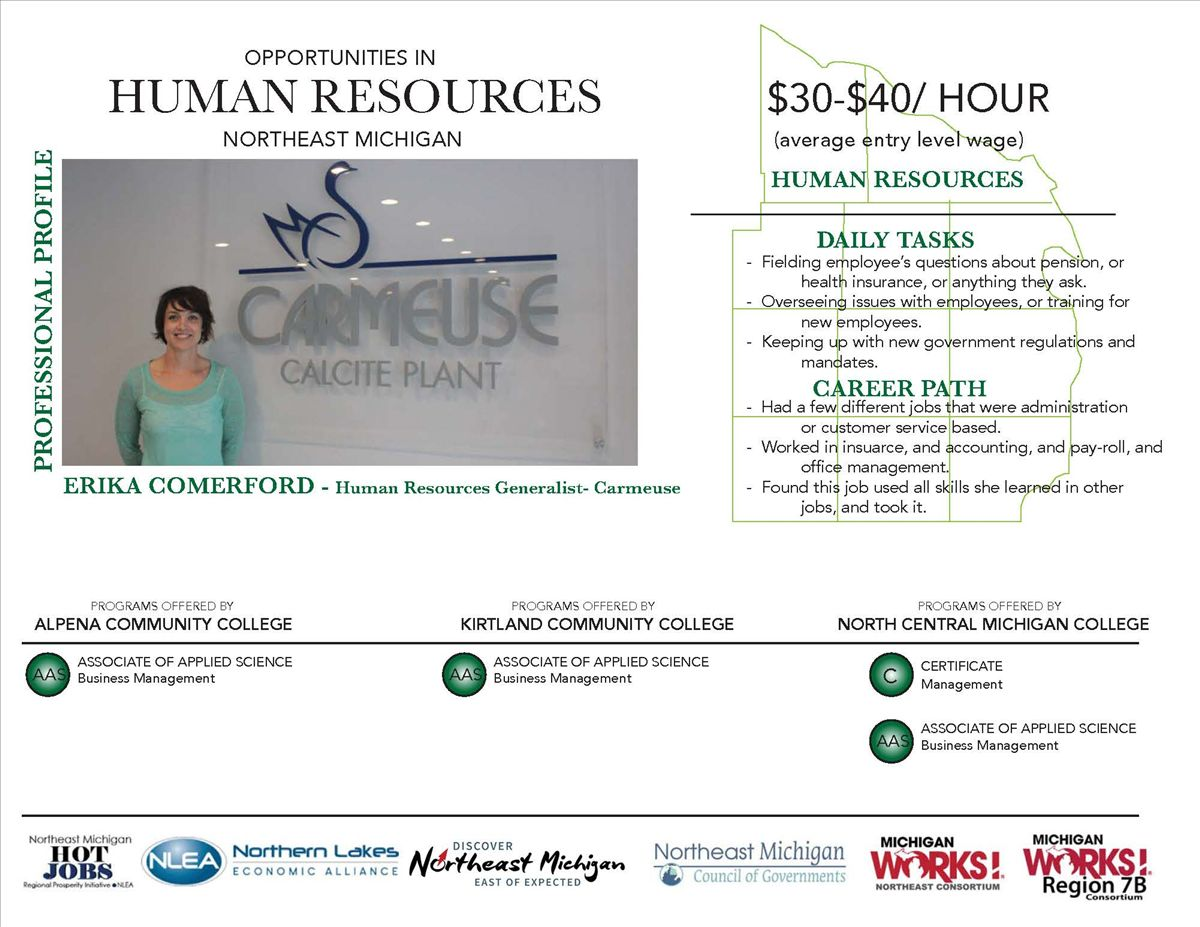 Hot Jobs Profile Human Services Discover Northeast Michigan