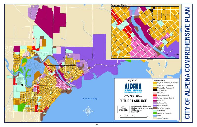 Future Land Use Map - Alpena