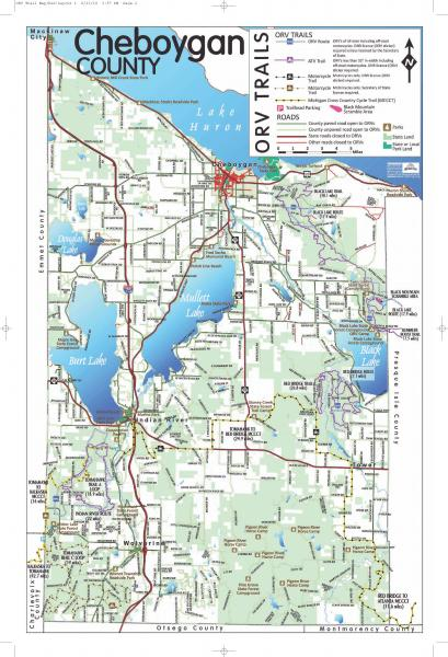 Cheboygan County ORV Map
