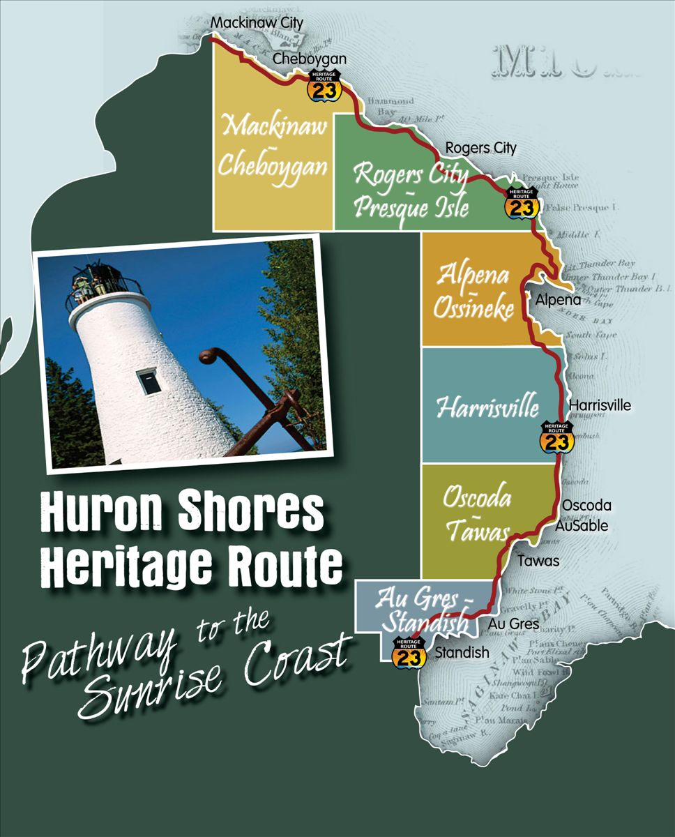 Pure Michigan Byways Discover Northeast Michigan - Us-23-map